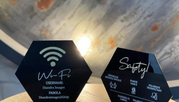 Plahcetă wifi și reguli de combatere COVID-19